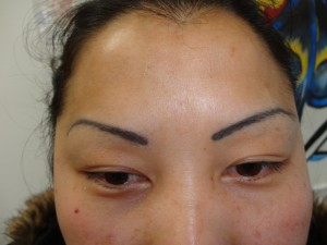 Tattoo Eyebrows Before