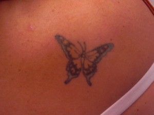 Butterfly Tattoo Touch-up BEFORE